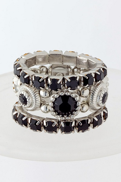 Jeweled 3-in-1 Ring Set - More Colors