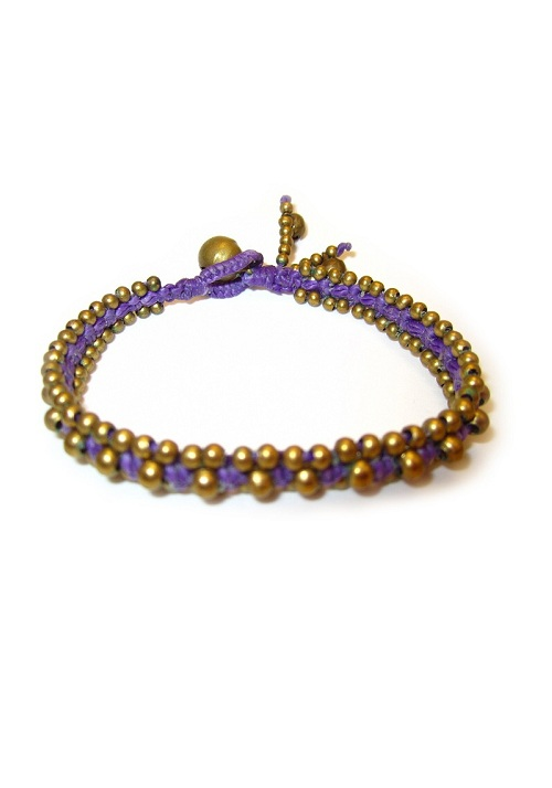 Thai Purple Cord Bracelet