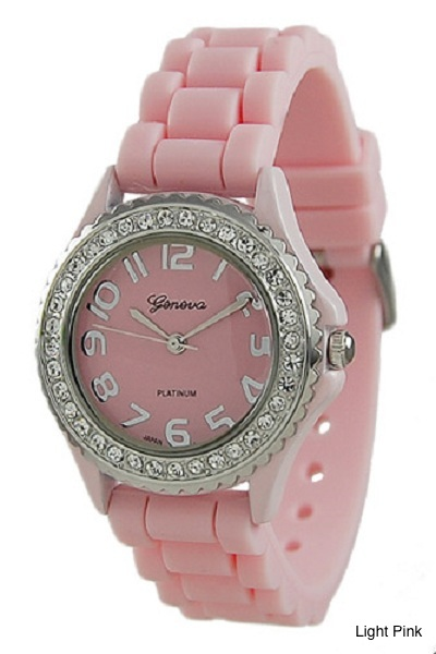 Geneva Brights Silicone Watch - More Colors - Click Image to Close