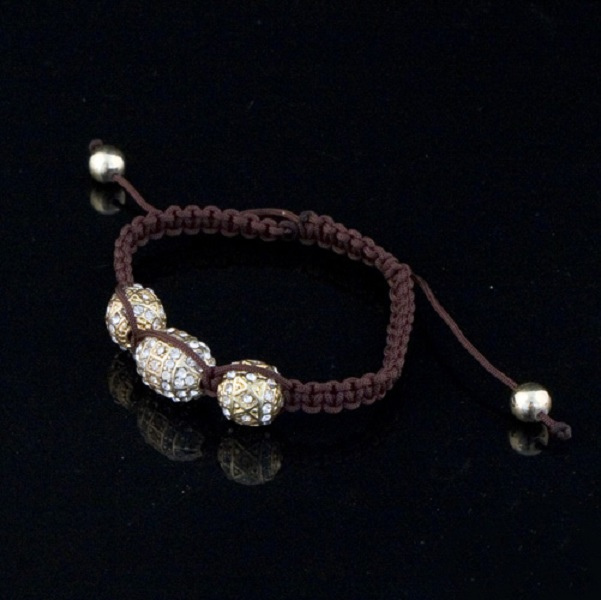 Tantra 3 Bead Macrame Bracelet - More Colors