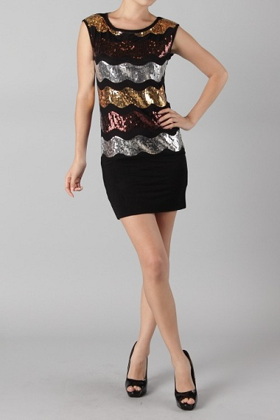 Mila Wave Sequin Dress