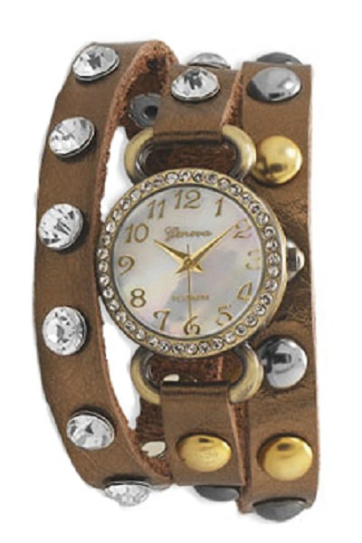 Geneva Wrap Around Watch - Faux Peau Design