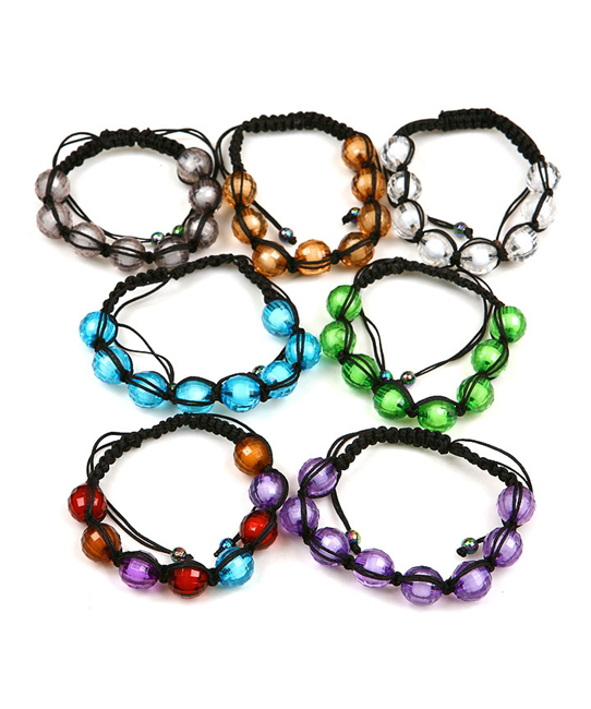 Nirvana Clear Bead Shamballa Bracelet - More Colors
