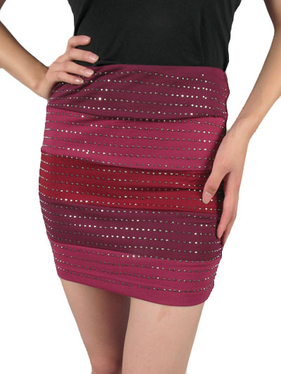 Kiley Studded Bodycon Skirt