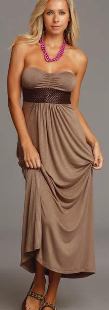 Lucy Love Malia Maxi Dress - Pebble