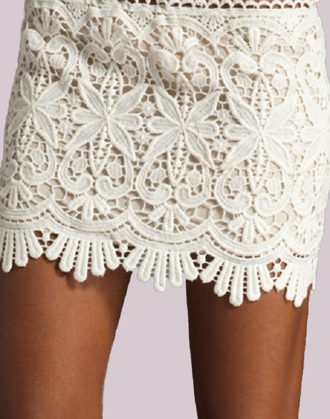 Sydney Lace Mini Skirt - Ivory