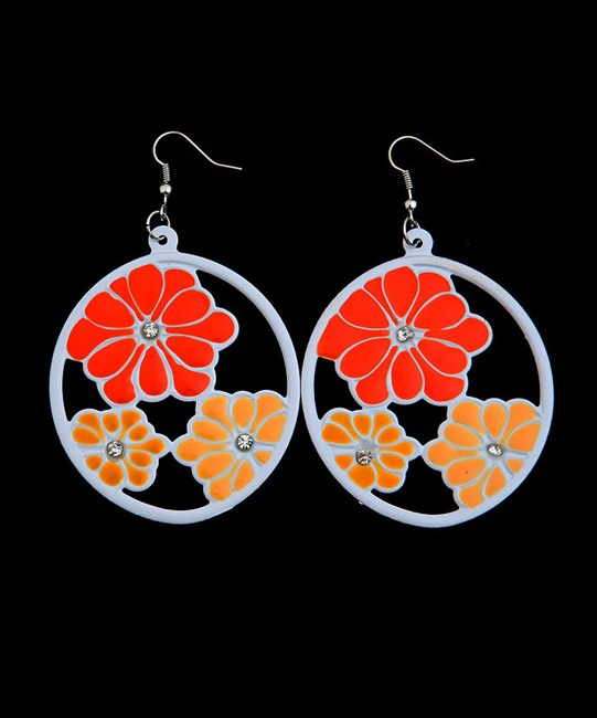 Fiora Flower Disc Earrings - More Colors