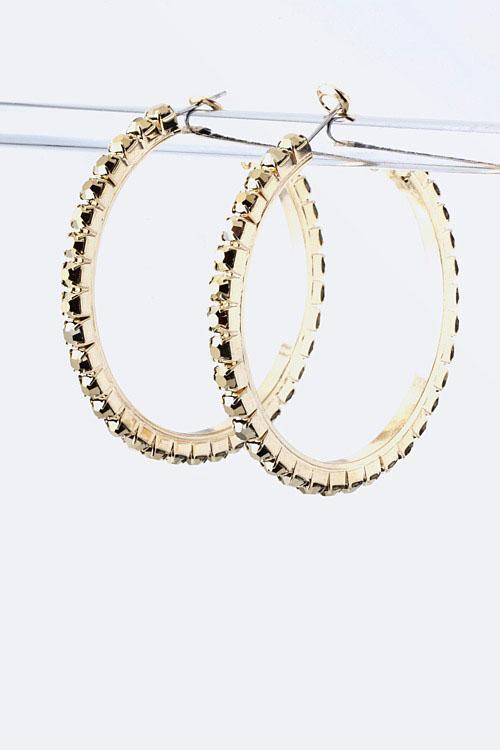 Arco Crystal Hoop Earrings More Colors