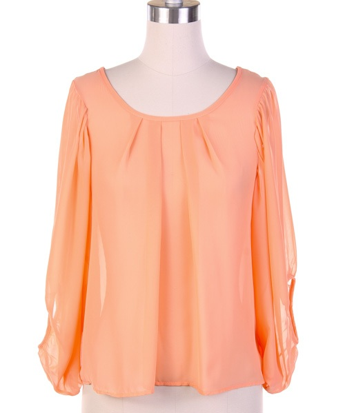 Julianne Sheer Chiffon Top - More Colors