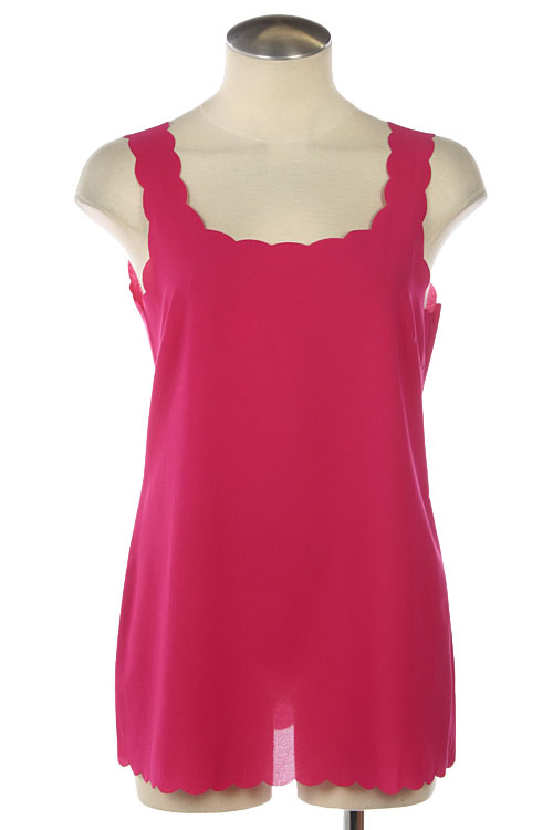 Selena Scallop Chiffon Tank - More Colors