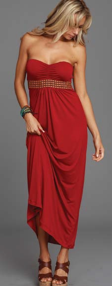 Lucy Love Malia Maxi Dress - Cayenne