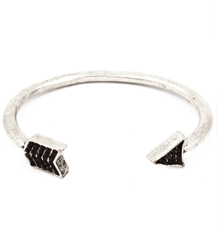 Black Crystal Arrow Cuff Bracelet