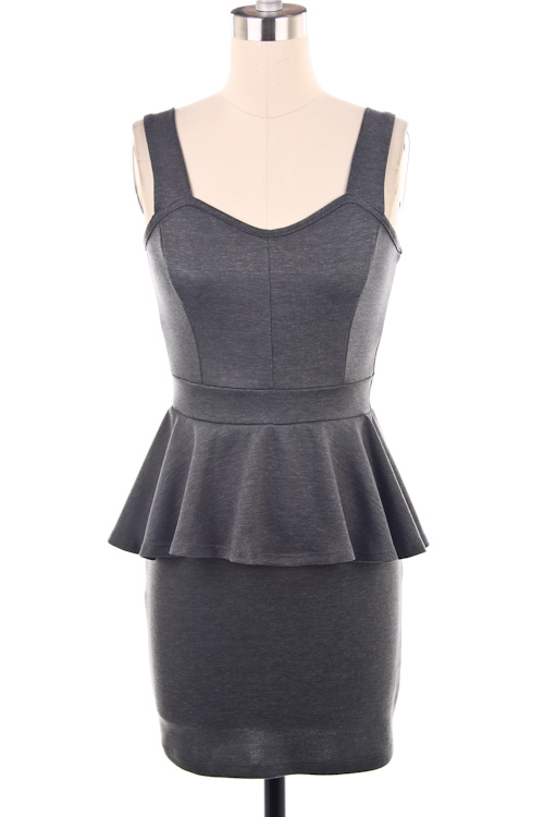 Taylor Sleeveless Peplum Mini Dress