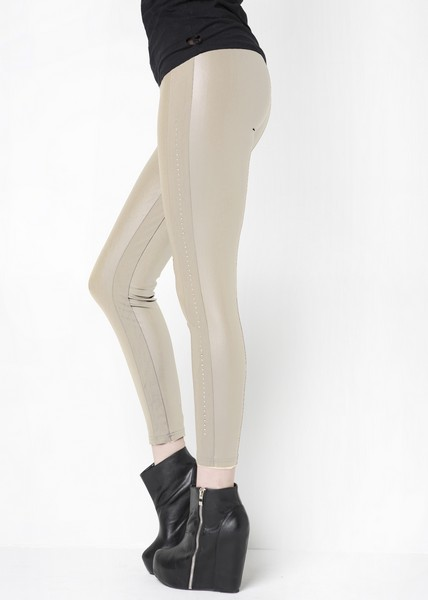 Stella Elyse Faux Leather Colored Leggings - More Colors