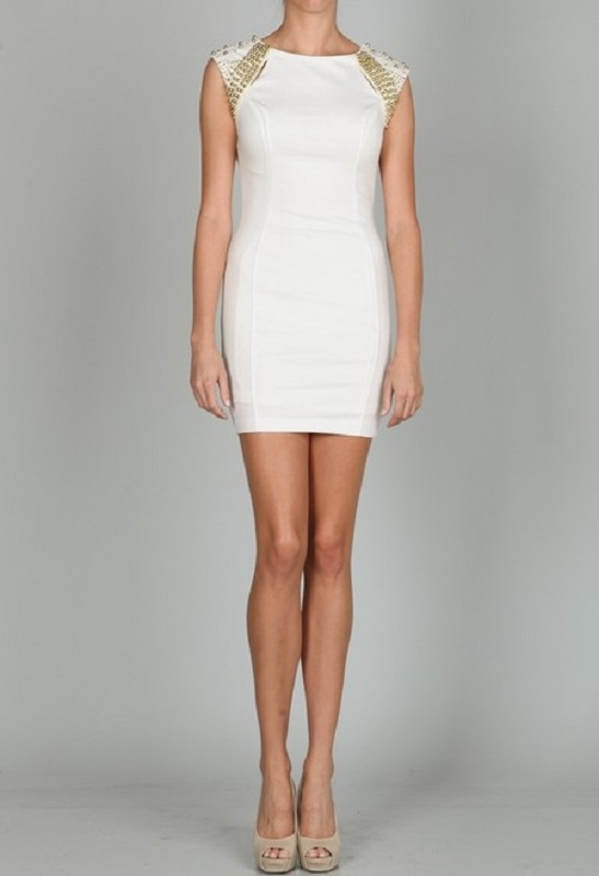 Ark & Co. Gold Rush Ivory Beaded Dress