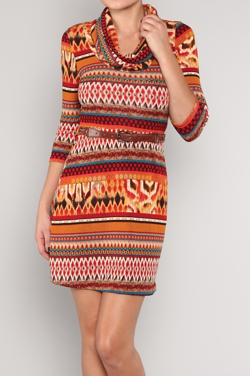 Zoe Tribal Knit Dress
