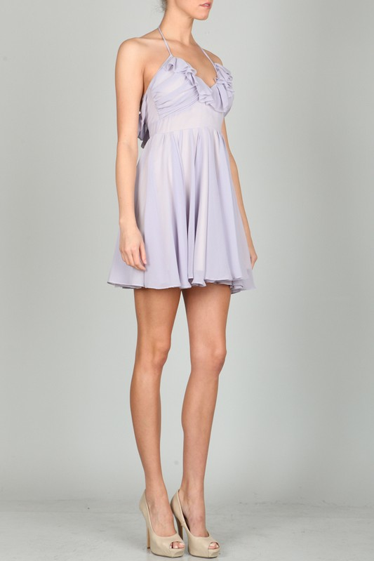 Ark & Co. Irina Lavender Ruffle Dress