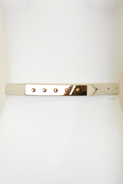 Studded Gold Plate Belt - More Colors