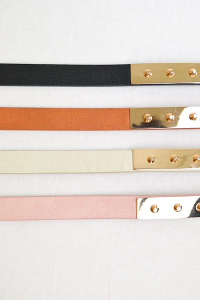 Studded Gold Plate Belt - More Colors - Click Image to Close