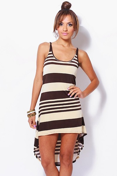 Sarah Hi Lo Striped Dress