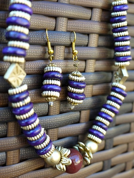 Bangladesh Bead Necklace and Earring Set