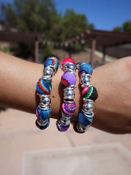 Peruvian Fabric Beads Bracelet - More Colors