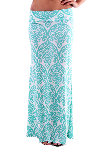 Neha Damask Maxi Skirt - More Colors