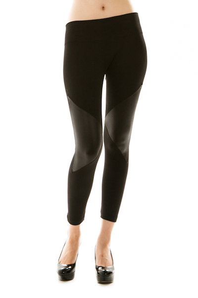 Rock On Leather Knee Fleece Leggings