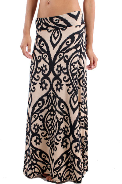 Zoryana Damask Maxi Skirt