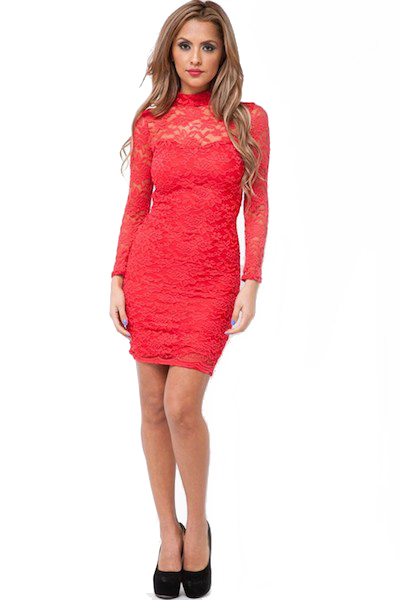 Kitsa Long Sleeve Lace Dress
