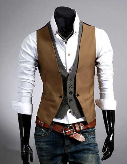 Dylan Slim Fit Casual Fashion Double Vest