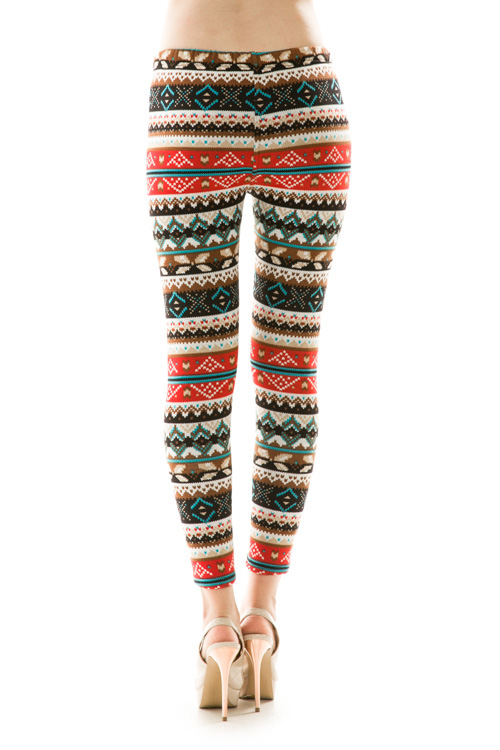 Anna Printed Fleece Leggings
