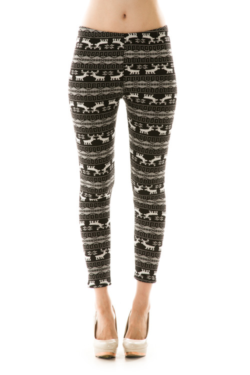 Dasher Fair Isle Print Fleece Leggings : Ava Adorn: Apparel and ...