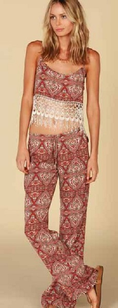Lucy Love Crimson Palazzo Pants - Click Image to Close