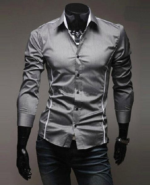ZJ Designer Muscle Fit Dress Shirt