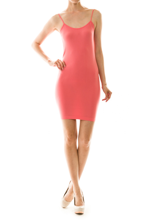 Solid Bodycon Slip Dress - More Colors - Click Image to Close