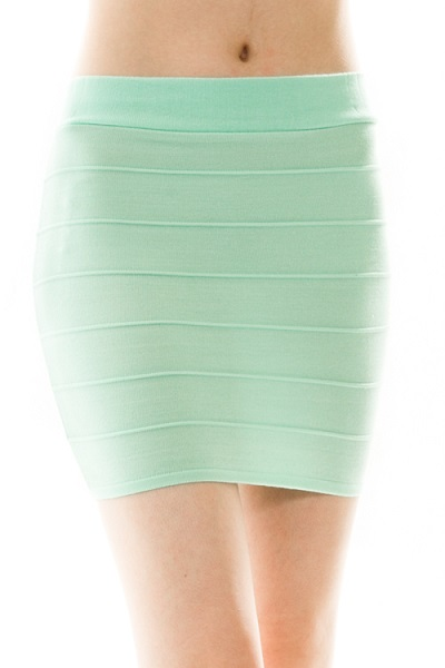 Solid Mini Bandage Skirt - More Colors