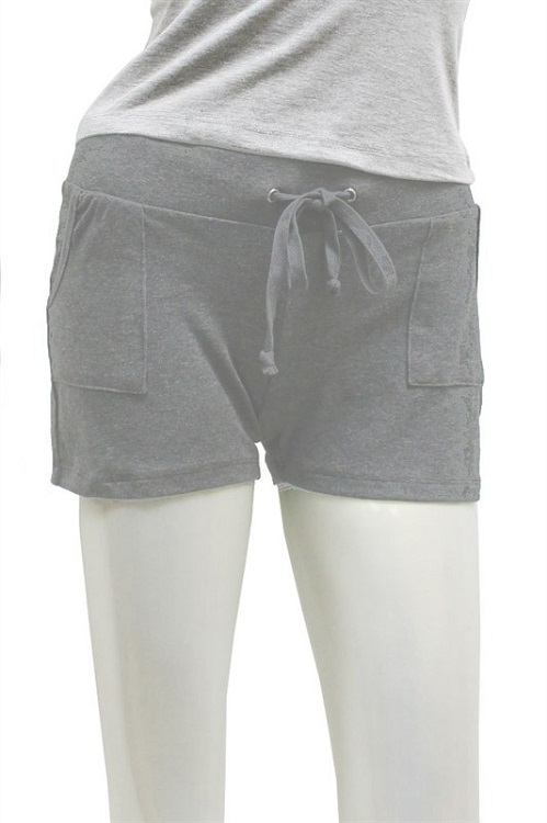 L Pocket Cotton Drawstring Shorts - More Colors