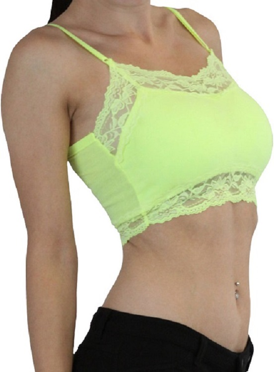 Lace Trim Padded Bralette - More Colors