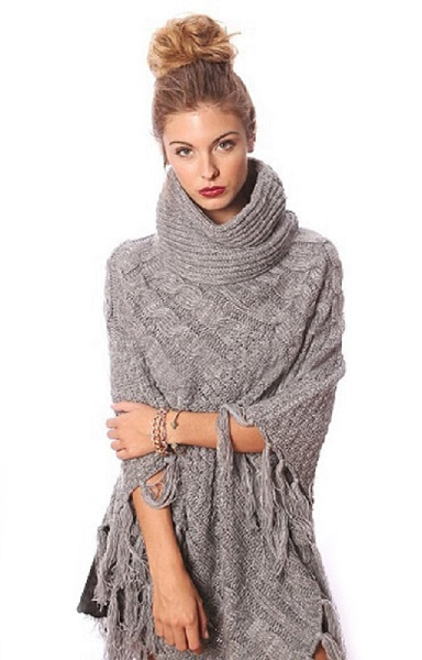 Anastasia Turtleneck Poncho - More Colors - Click Image to Close