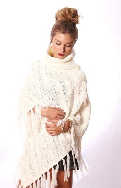 Anastasia Turtleneck Poncho - More Colors
