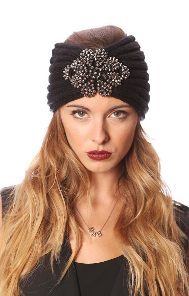 Bling Ribbed Knit Headwrap