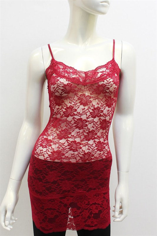 All Over Lace Long Cami - More Colors