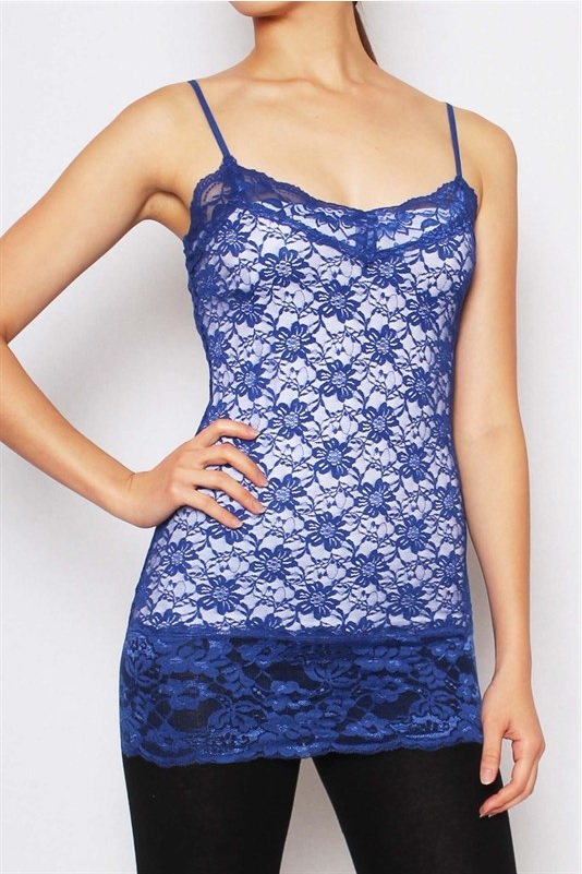 All Over Lace Long Cami - More Colors - Click Image to Close