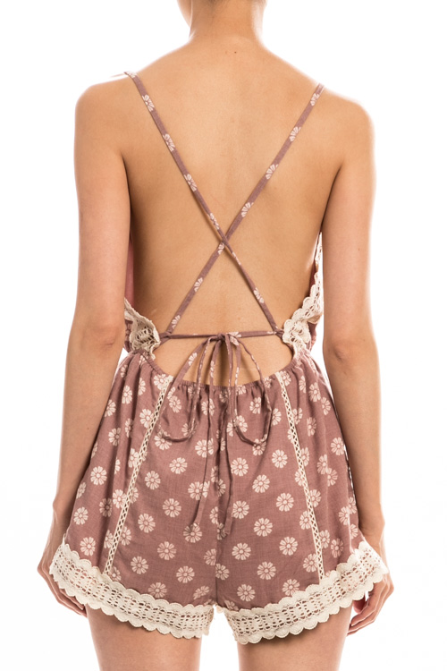 Margot Backless Cami Romper