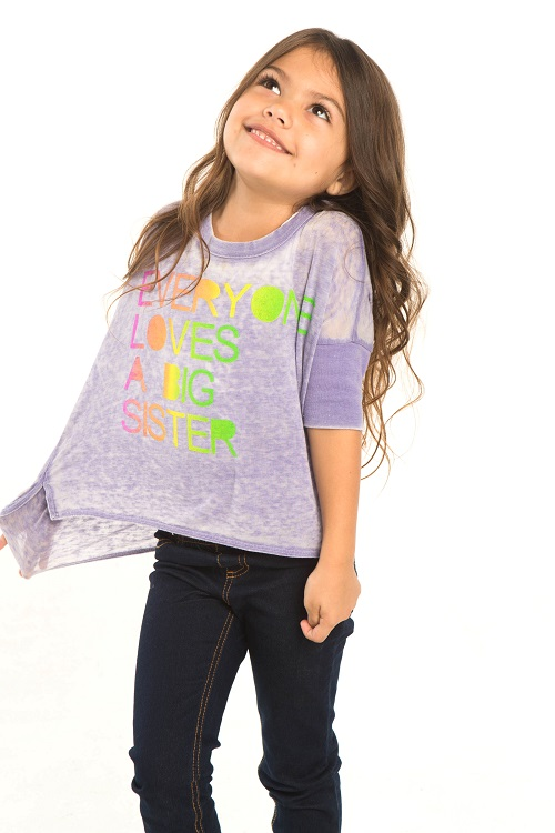 Big Sister Kids Jersey Boxy Pullover