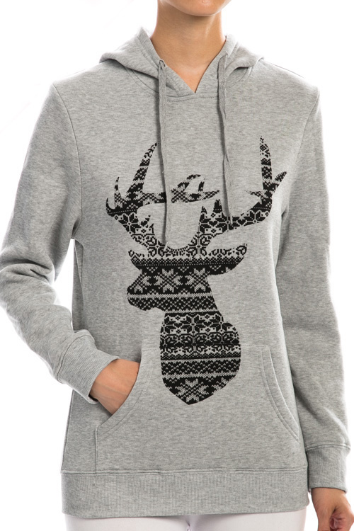 Fair Isle Reindeer Print Top - More Colors : Ava Adorn: Apparel ...