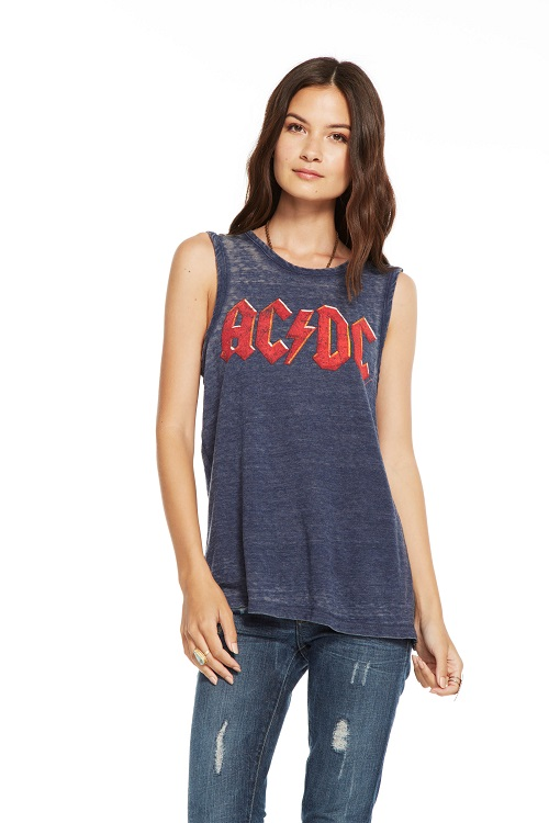 AC/DC Embossed Logo Graphic Tee