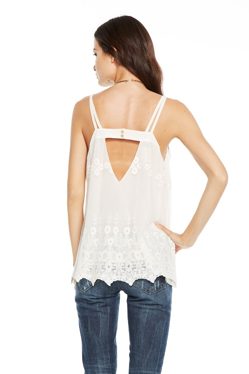 Vintage Lace Double Strap V Back Cami