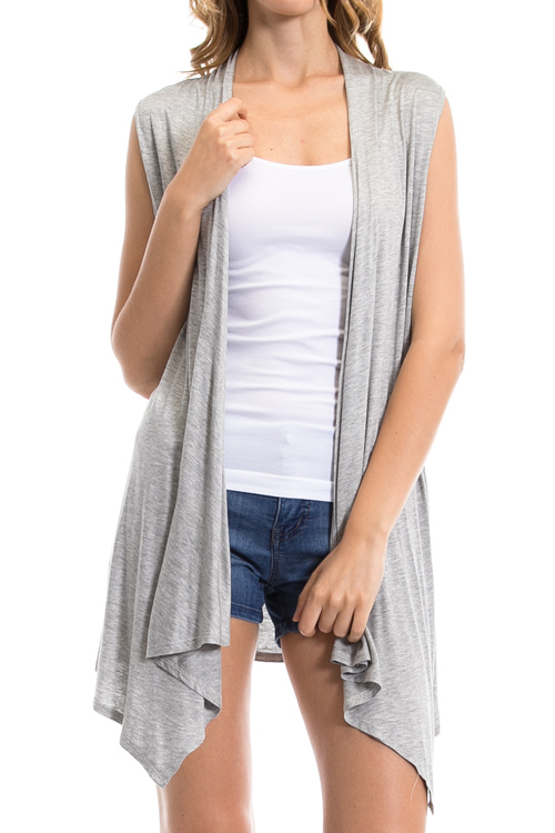 Handkerchief High Low Lightweight Vest - More Colors